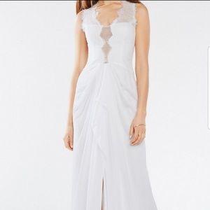 NWT Brandy BCBGMax Azria white gown, size 04